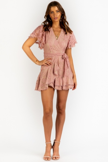 Fine Dining Dress - Blush