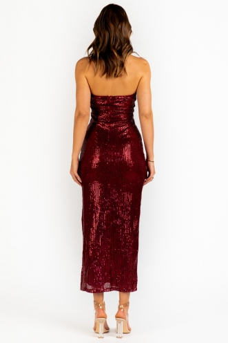 Light In My Dark Dress - Maroon Sequin