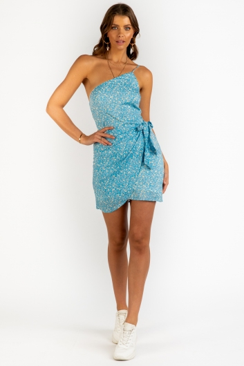 Nina Dress - Light Blue Floral