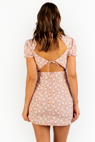 Lemon Squeeze Dress - Pink Print