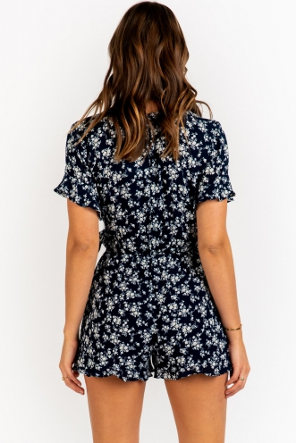 Like To Dance Playsuit - Navy Floral