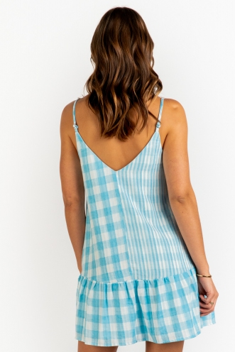 Shura Dress - Blue Check