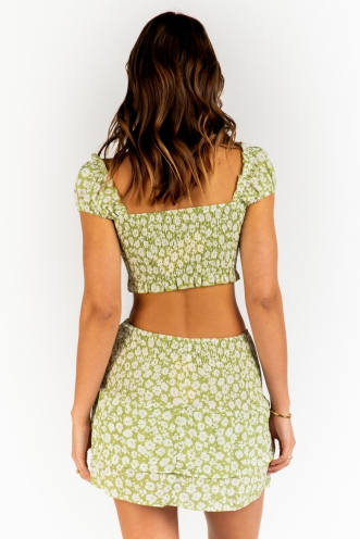 Ryleigh Top - Green Floral