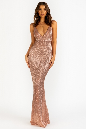 It Feels So Good Dress - Blush Sequin