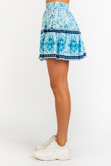 Trouble Skirt - Blue Print