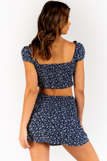 Ryleigh Top - Navy Floral