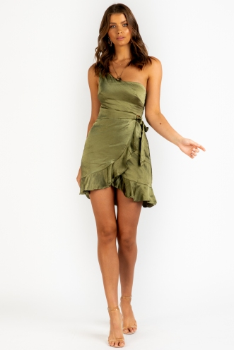 Never Dance Alone Dress - Khaki