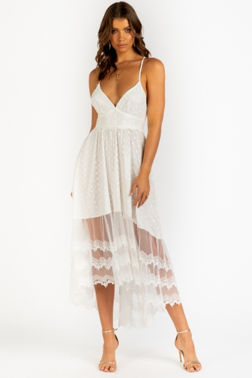 Impulse Dress - White