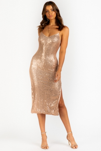 Dilemma Dress - Gold