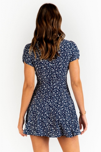 Shareen Dress - Navy Floral