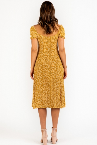 Karli Dress - Yellow Print