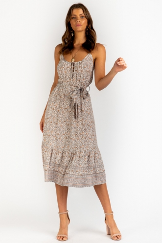 Summer In Manly Dress- Mix Grey