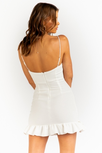 Before My Time Dress -White