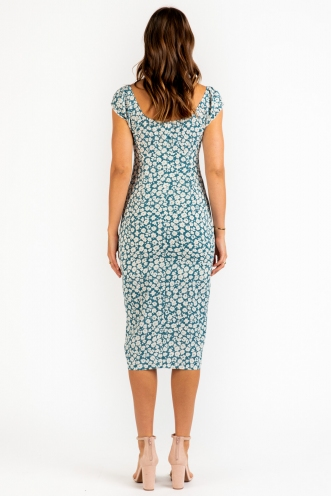 Percy Dress - Teal Floral