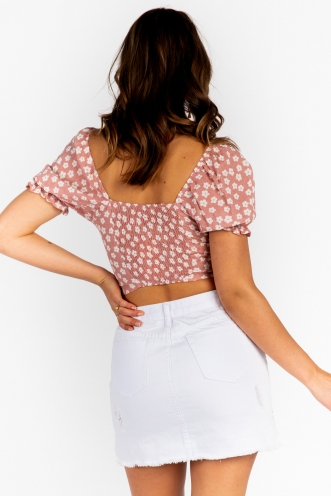 Away From Me Top - Blush Floral