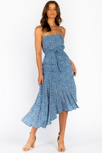 Seaside Dress- Blue Floral