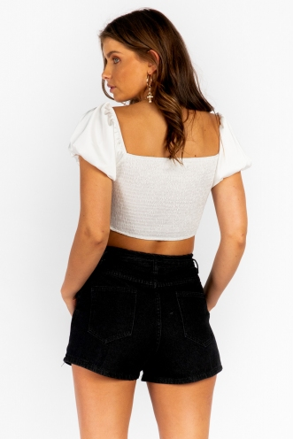 Lammy Top- White