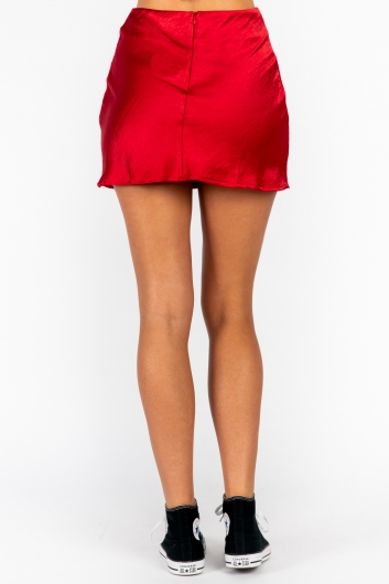 Britney Skirt - Red Silky