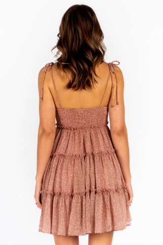 Carmen Dress - Blush Leopard
