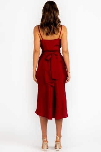 Luca Dress - Maroon