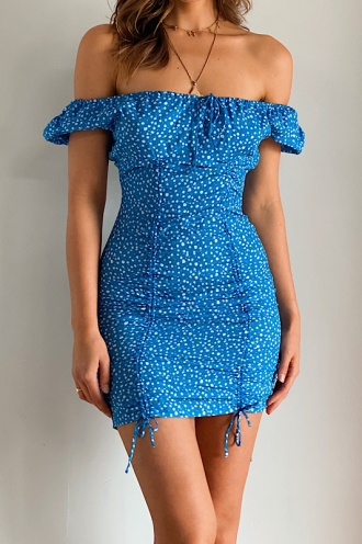Karlae Dress- Blue Floral