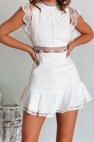 Briar Dress- White Lace