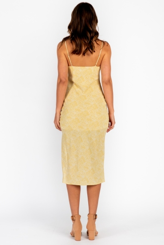 Ellen Dress Yellow Print