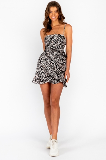 Applebloom Dress Leopard Print