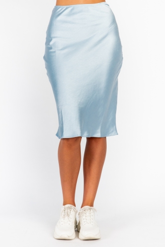 Aleesha Skirt Blue Silky