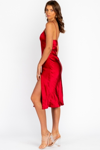 Harley Dress Red Silk