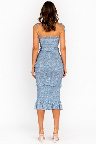 Nurys Dress -Blue Print