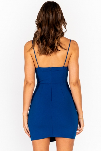 Dance To The Night Dress- Cobalt Blue