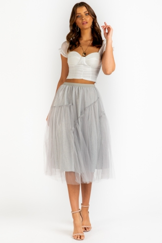Fairy Lights Skirt - Grey Sparkle