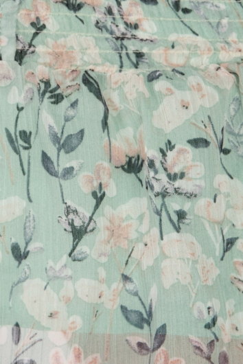 Ainsley Dress - Mint Print
