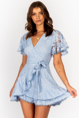 Fine Dining Dress Baby Blue