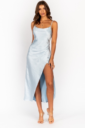 Yewande Dress Steel Blue