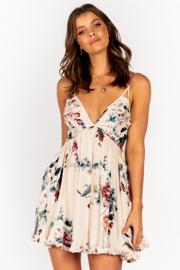 Sully Dress Beige Print