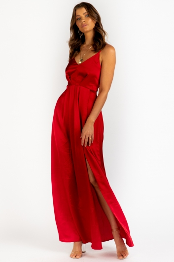 Indie Maxi Dress Red
