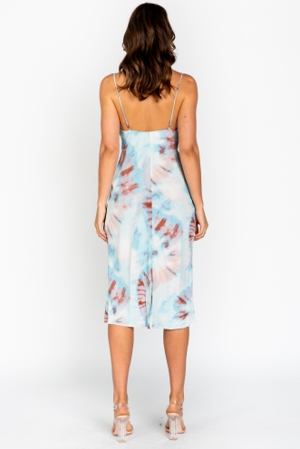 Interstellar Dress - Blue/Pink Print