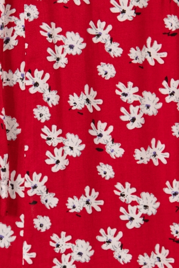Stagger Top Red Floral