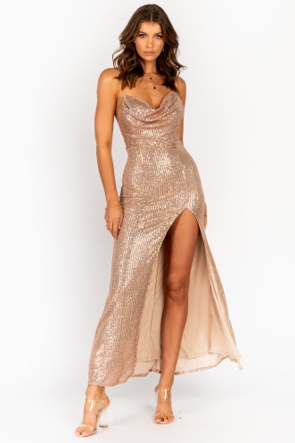 Spaceship Dress Rose Gold