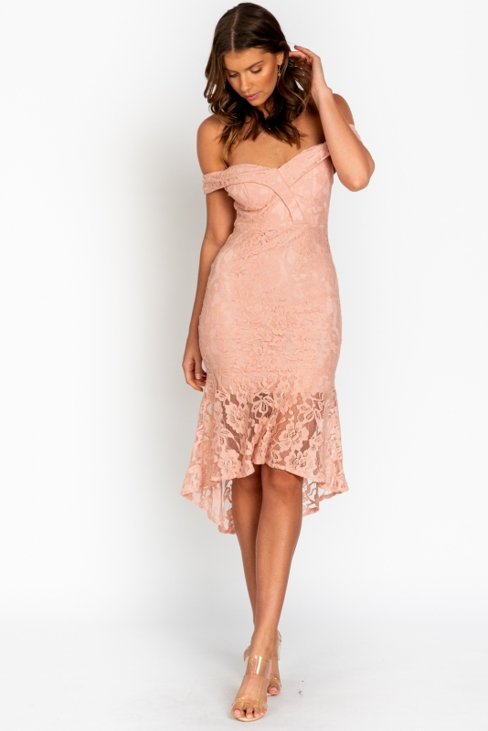 Call Me Out Dress Pink STELLY