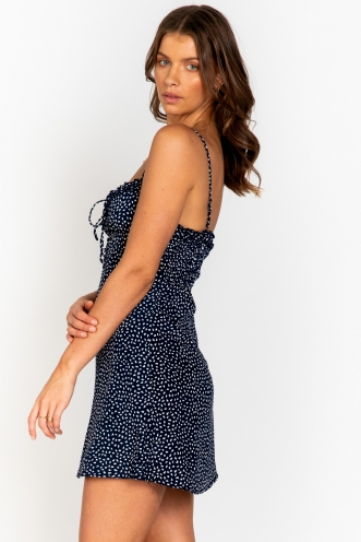 Live For Now Dress Navy Print