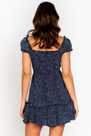 Kahli Dress Navy Print