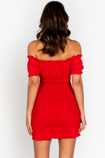 Lucky Me Dress Red