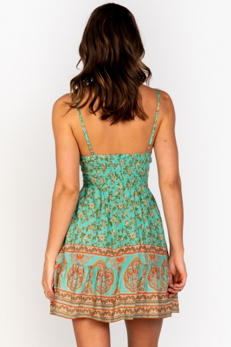 Savannah Dress Sage Print