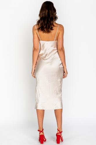 Ellen Dress Champagne Silk