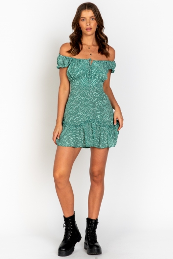 Harper Dress Green Print