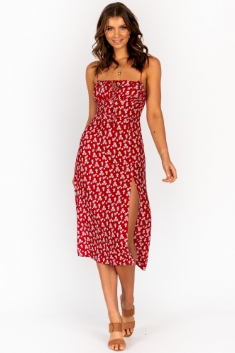 Tangalle Dress Red Floral