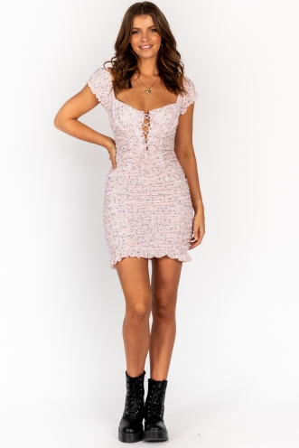 Midnight Hour Dress Pink Floral